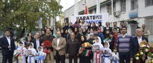 DSC1201 300x124 - مراسم تقدیر از قهرمانان گیلانی کاراته
